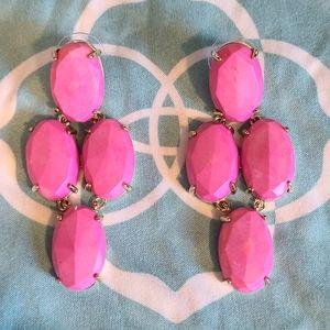 Kendra Scott Steph Neon Pink Gold Earrings